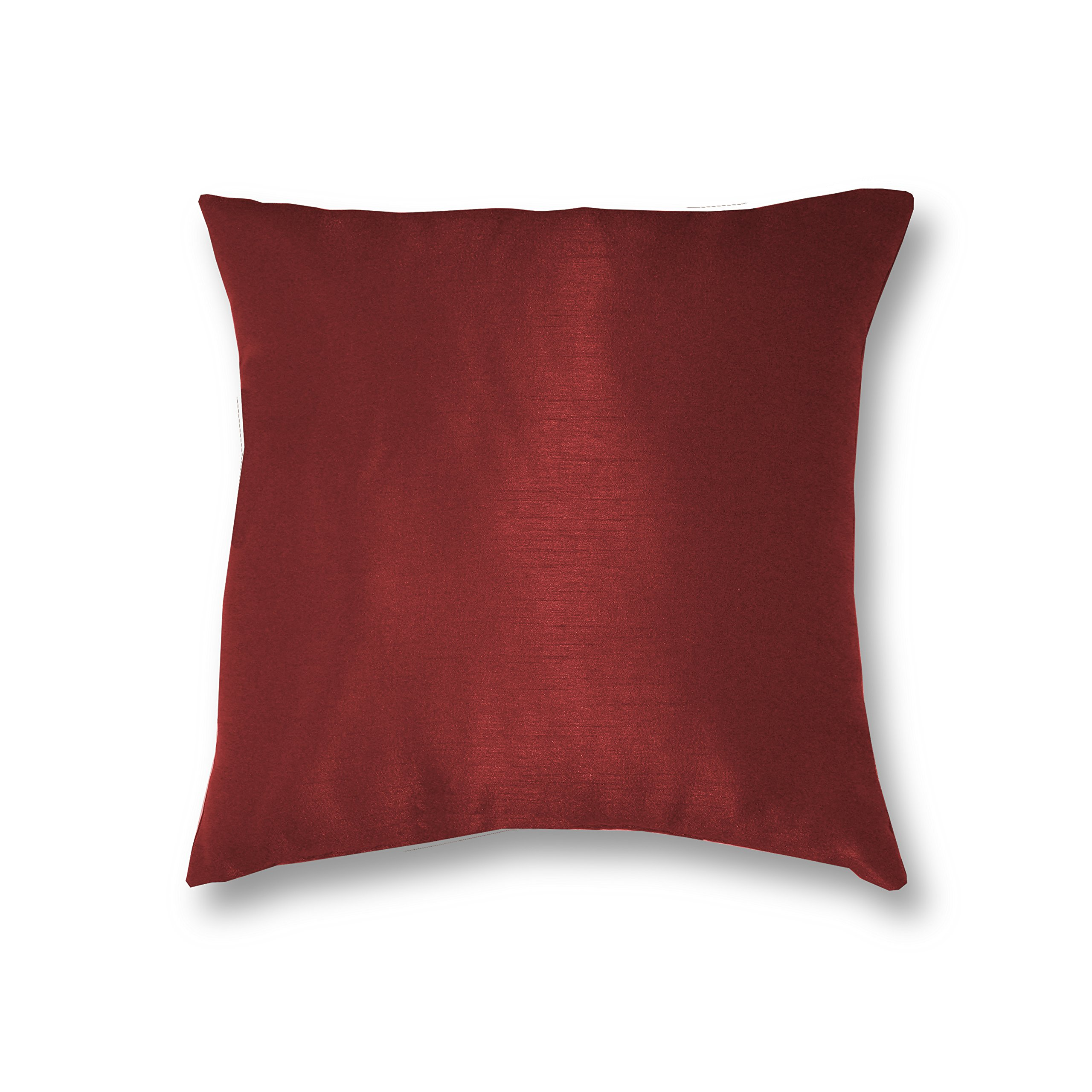 Elrene Home Fashions 026865880199 Decorative Solid Regal Couch/Sofa/Bed Cushion Pillow, 18'' x 18'', Rouge