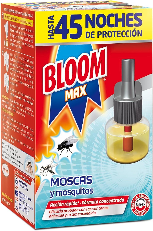 Bloom Recambio Max Electrico Líquido para Moscas y Mosquitos Común y Tigre