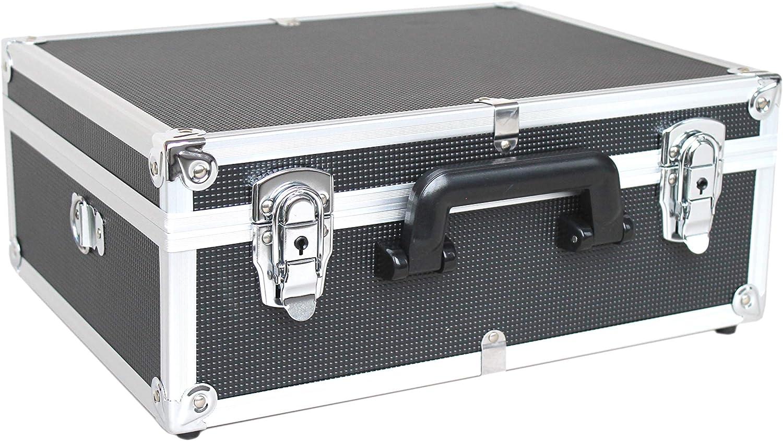 POINSETTIA Alu Werkzeugkoffer Tool Case f/ür Instrumente und Technische Ausr/üstung mit anpassbarer Schaumstoffeinlage LxBxH 29,5x21x7cm Violett