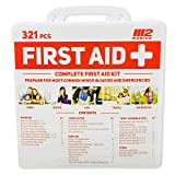 M2 BASICS 321 Piece Premium First Aid Kit w/Hard