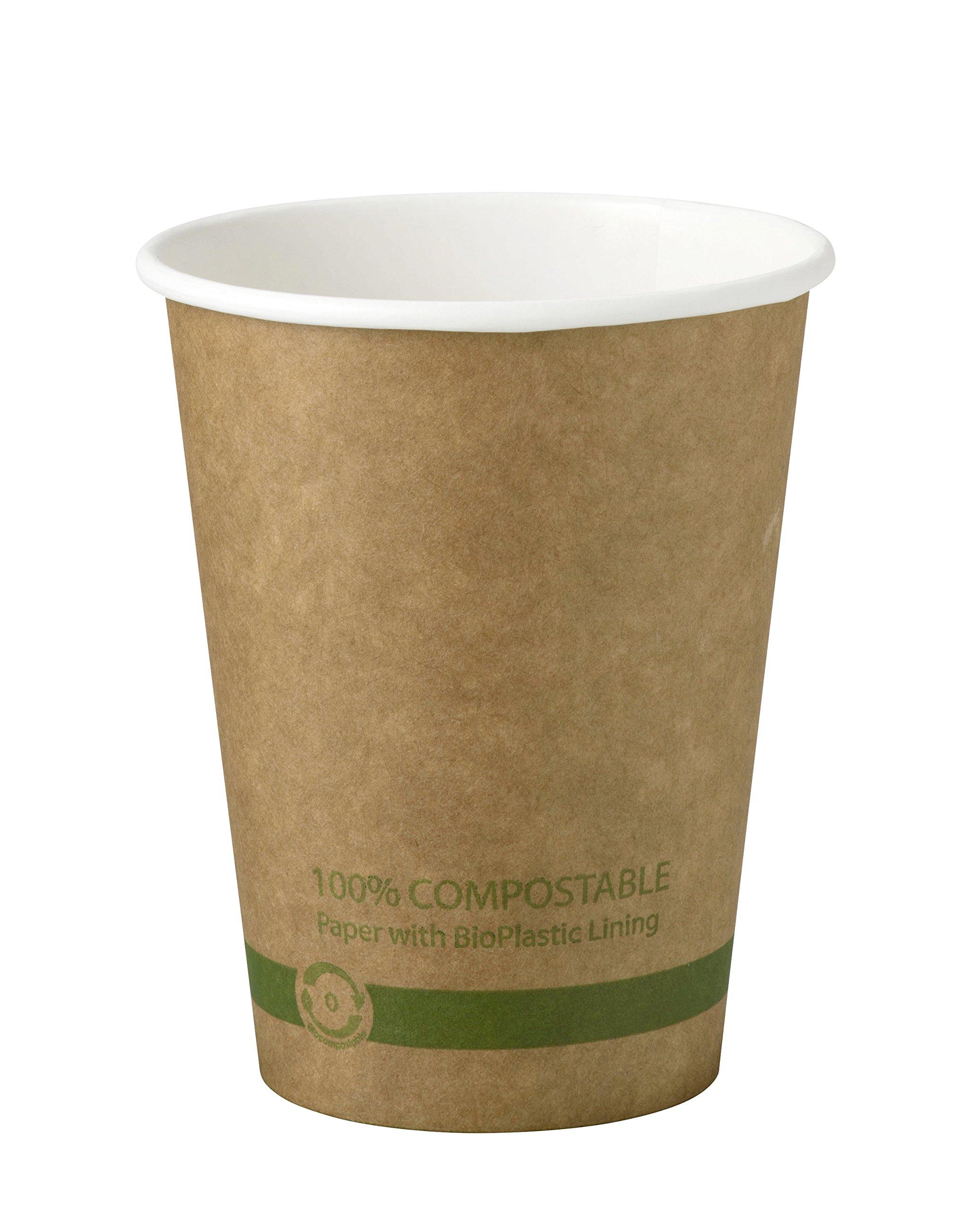 World Centric CU-PA-12-K 100% Compostable FSC Mix Paper Hot Cups, 12 oz, Kraft (Pack of 1000)