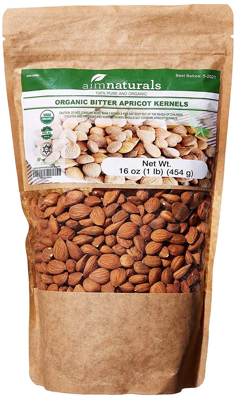 Bitter Apricot Kernels Organic Raw (1LB)-100% USDA Organic Certified– Bitter Apricot Seeds Organic Raw - Made in Turkey (Free Electronic Book)