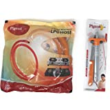 Pigeon 1.5 meters Steel wire reinforced LPG Hose with Gas lighter orange (Combo)