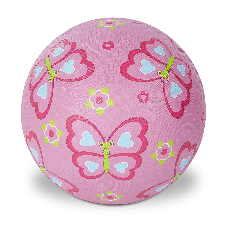B01AYCU6BG Melissa & Doug Sunny Patch Cutie Pie Butterfly Classic Rubber Kickball 81Vc0022zlL