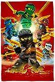 "Große Lego Ninjago Decke "" Motiv Fire "" 120 cm x 150 cm - Neu & Ovp - Fleecedecke - Kuscheldecke - Auto-Decke - Autokuscheldecke - Flauschdecke - Schmusedecke - Tagesdecke - Cole - Jay - Kai - Lloyd - Zane - Nya - Misako - Sensai Wu"