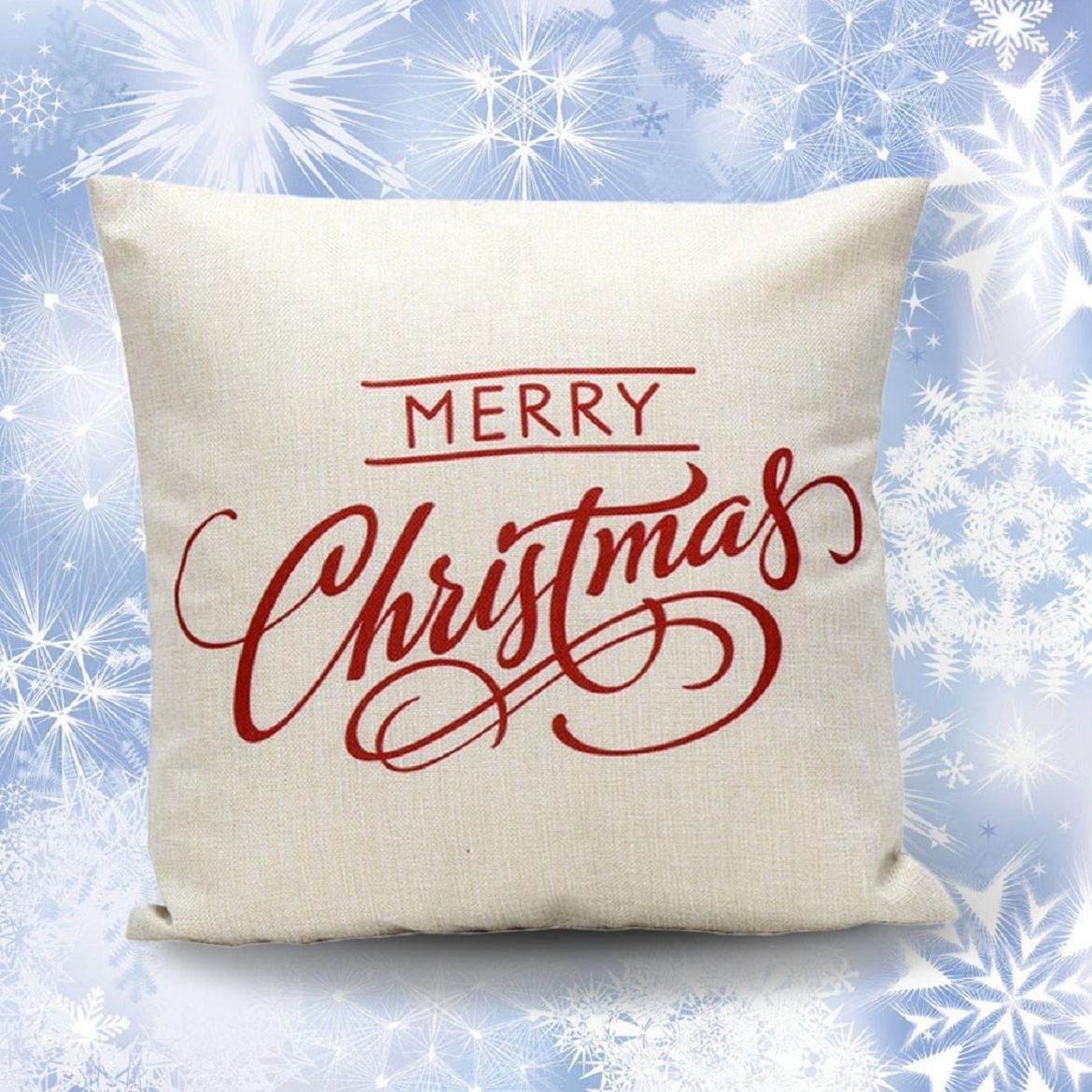 Christmas Pillow Cushion Cover Christmas white