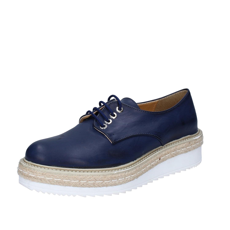 OLGA RUBINI Zapatos de Cordones de Piel Sintética Para Mujer 38 EU|Turquesa