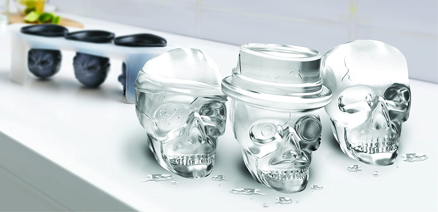 Amazon.com: Tovolo Skull Ice Molds - Set of 3: Kitchen & Dining