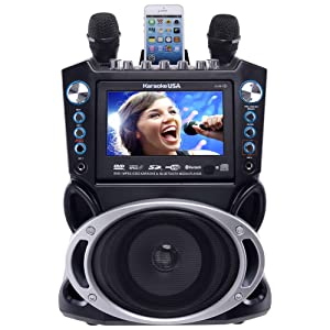"Karaoke USA GF840 DVD/CDG/MP3G Karaoke Machine with 7"" TFT Color Screen with Record and Bluetooth"