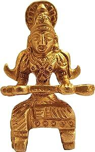 GURU JEE Brass Statue Goddess Annapurna Devi Idol Small Art Goddess of Food Collectible Sculpture Gifts Pooja Showpiece