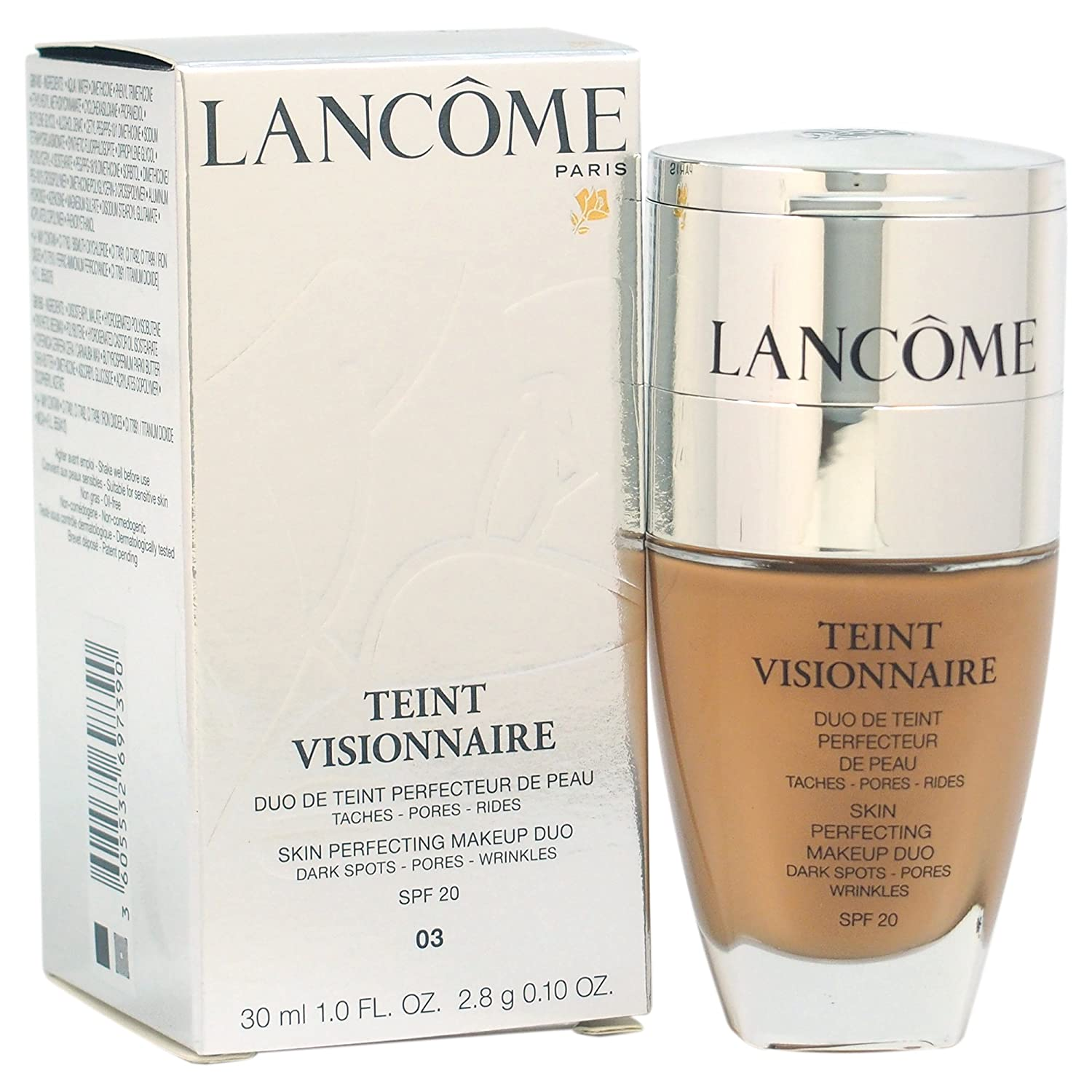 Lancome Teint Visionnaire Skin Perfecting Makeup Duo 03 Beige Diaphane for Women, 1 Ounce