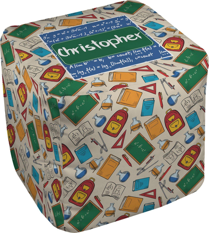 RNK Shops Math Lesson Cube Pouf Ottoman - 13'' (Personalized)