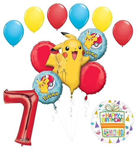 Amazon Com Mayflower Products Pokemon 7th Birthday Party Supplies