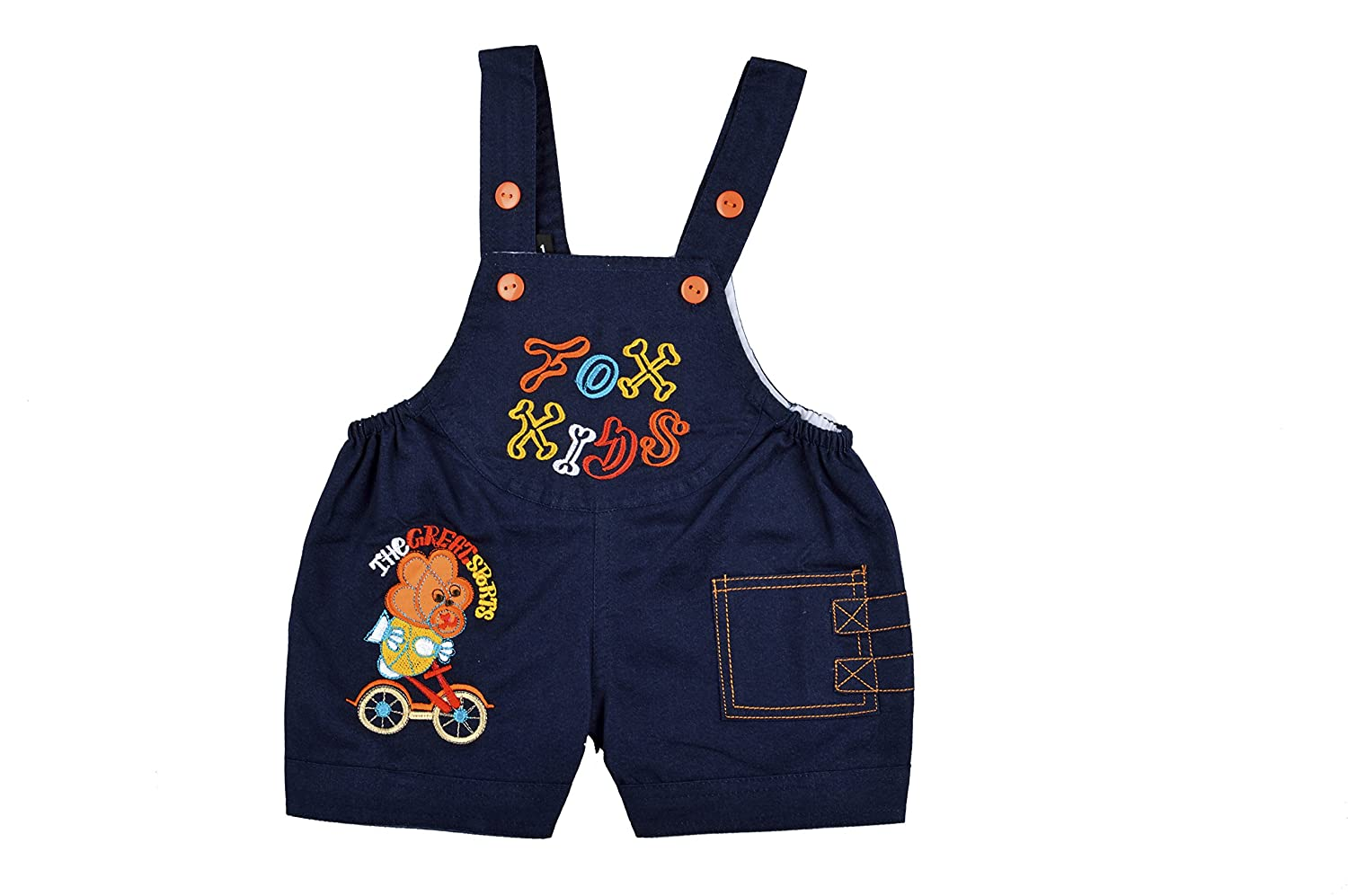 20e881d5b38e9 Kuchipoo Kid's Denim Dungaree Set: Amazon.in: Clothing & Accessories