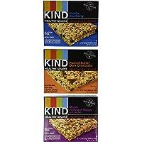 KIND Healthy Grains Granola Bars, Three Flavor Variety Pack, Gluten Free, 1.2oz Bars, 15 Count