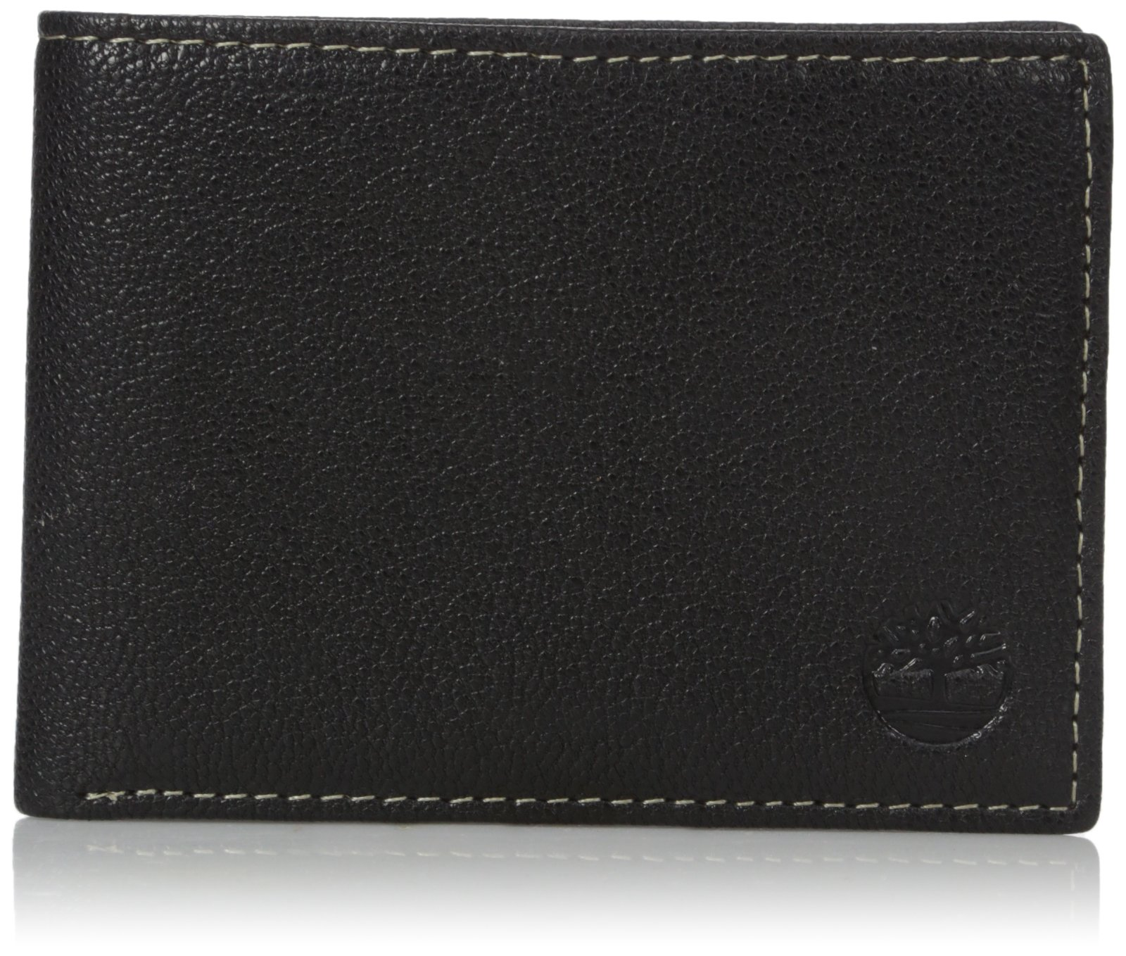 Timberland Men's Genuine Leather RFID Blocking Passcase Security Wallet, black, One Size by Timberland