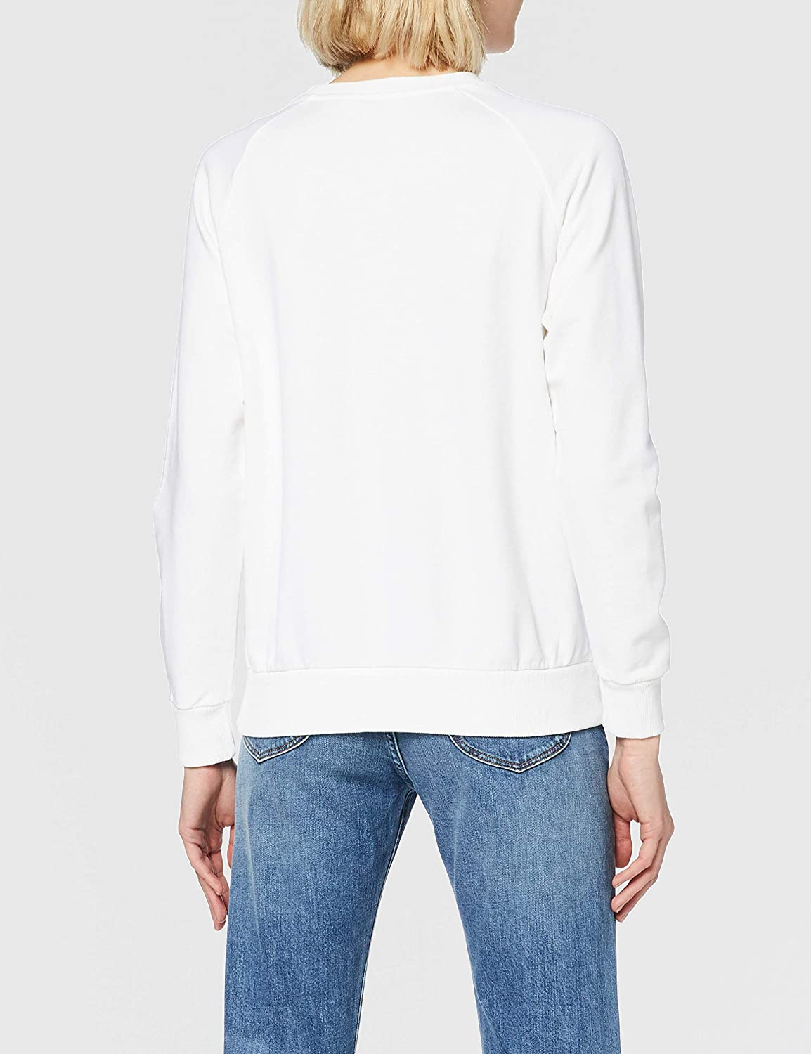 Lee Damen Crew Sweatshirt Blanc (Bright White Lj)