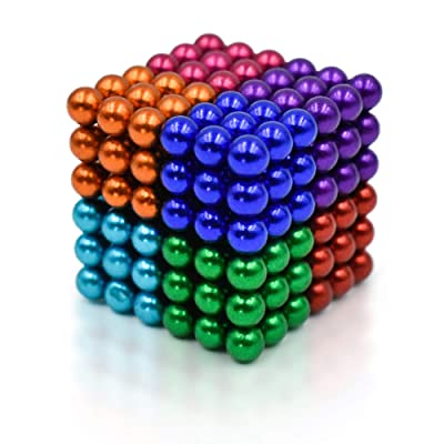 Magnetic Man Sky Magnets 5 mm Magnetic Balls Cube Fidget Gadget Toys Rare Earth Magnet Office Desk Toy Games Magnet Toys Multicolor Beads Stress Relief Toys for Adults (8 Colors): Toys & Games
