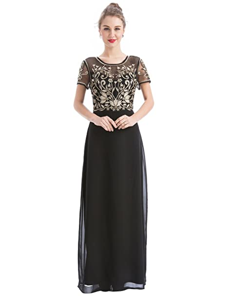 Amazon.com: Maner - Vestido de fiesta para mujer, diseño de ...