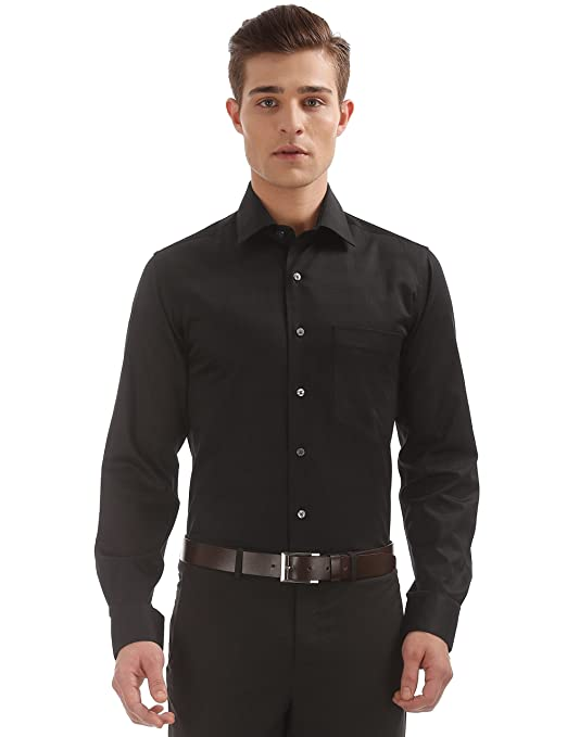f844bb7c292ba Arrow Men s Plain Regular fit Formal Shirt Formal Shirts from amazon in  Apparels