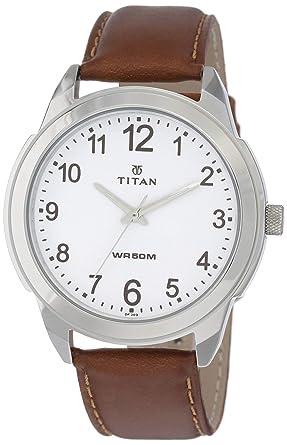 f30711c3c671 Buy Titan Analog White Dial Men's Watch -1585SL07C Online at Low ...