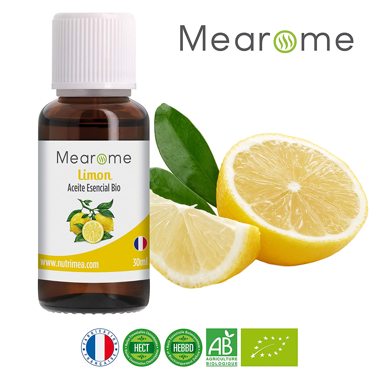 Aceite Esencial Perfumado Limón Premium Bio 30 ml Aceite Esencial Quimitipado Certificado HEBBD Terapéutico 100% Puro Ideal Humidificador Ultrasónico Aromaterapia Cosmética Spa Medicinal SARL Helpac