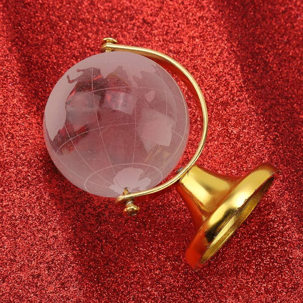 Globe terrestre Rond en Cristal iFCOW Carte du Monde D/écoration pour la Maison ou Le Bureau Boule en Verre