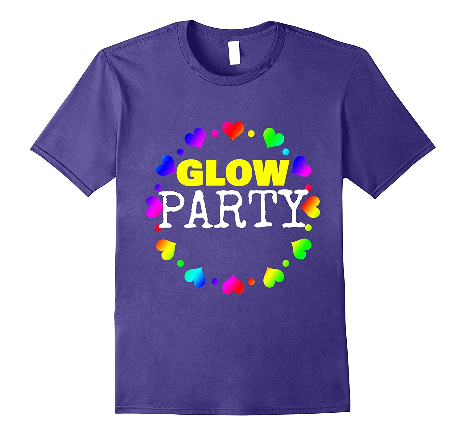 Glow Party Birthday Guest Shirt-Vaci