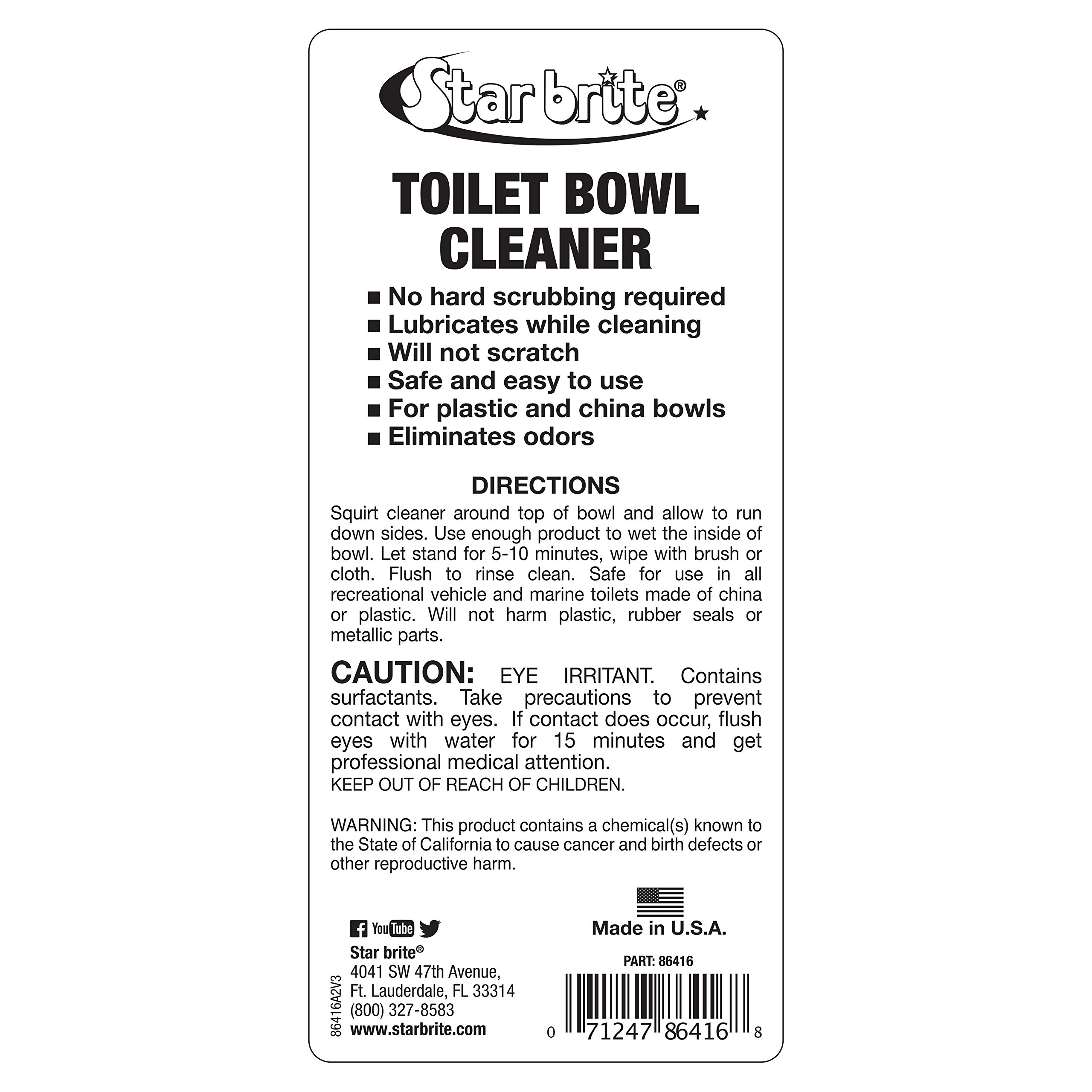 Star Brite Toilet Bowl Cleaner - Marine & RV Formula - 16 oz. (86416) by Star Brite (Image #2)
