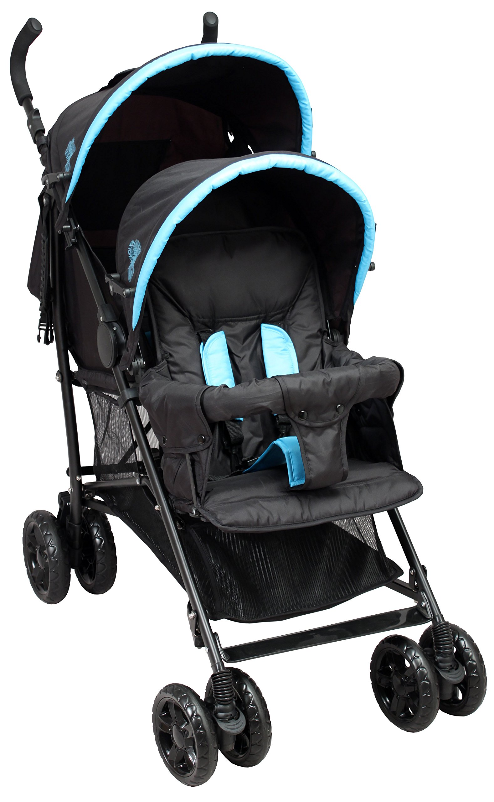 Bambisol Poussette Canne double Noir Turquoise product image