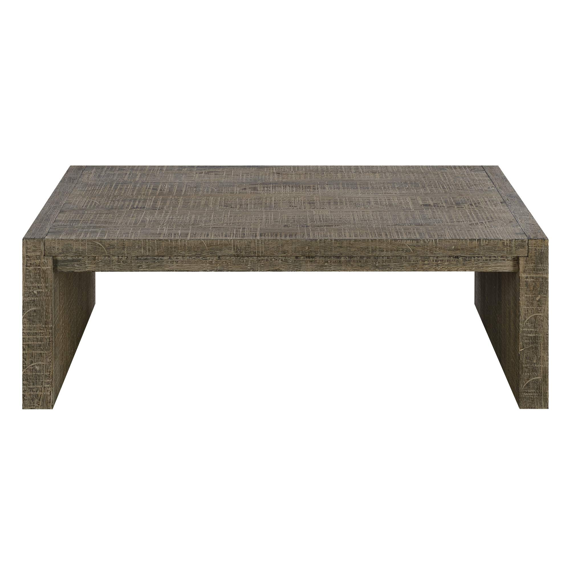 Deckland 48'' Coffee Table in Mustang Gray with Plank Style Top And Waterfall Ends, by Artum Hill