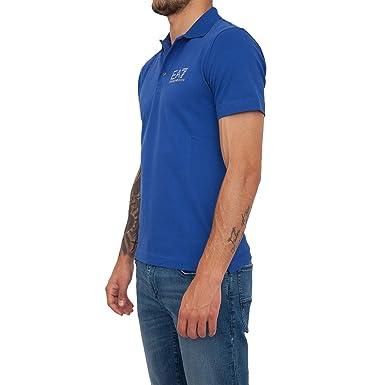 Emporio Armani Ea7 3ZPF52 PJ04Z Polo Man Bleu S  Amazon.fr  Vêtements et  accessoires 1e2765f7fde