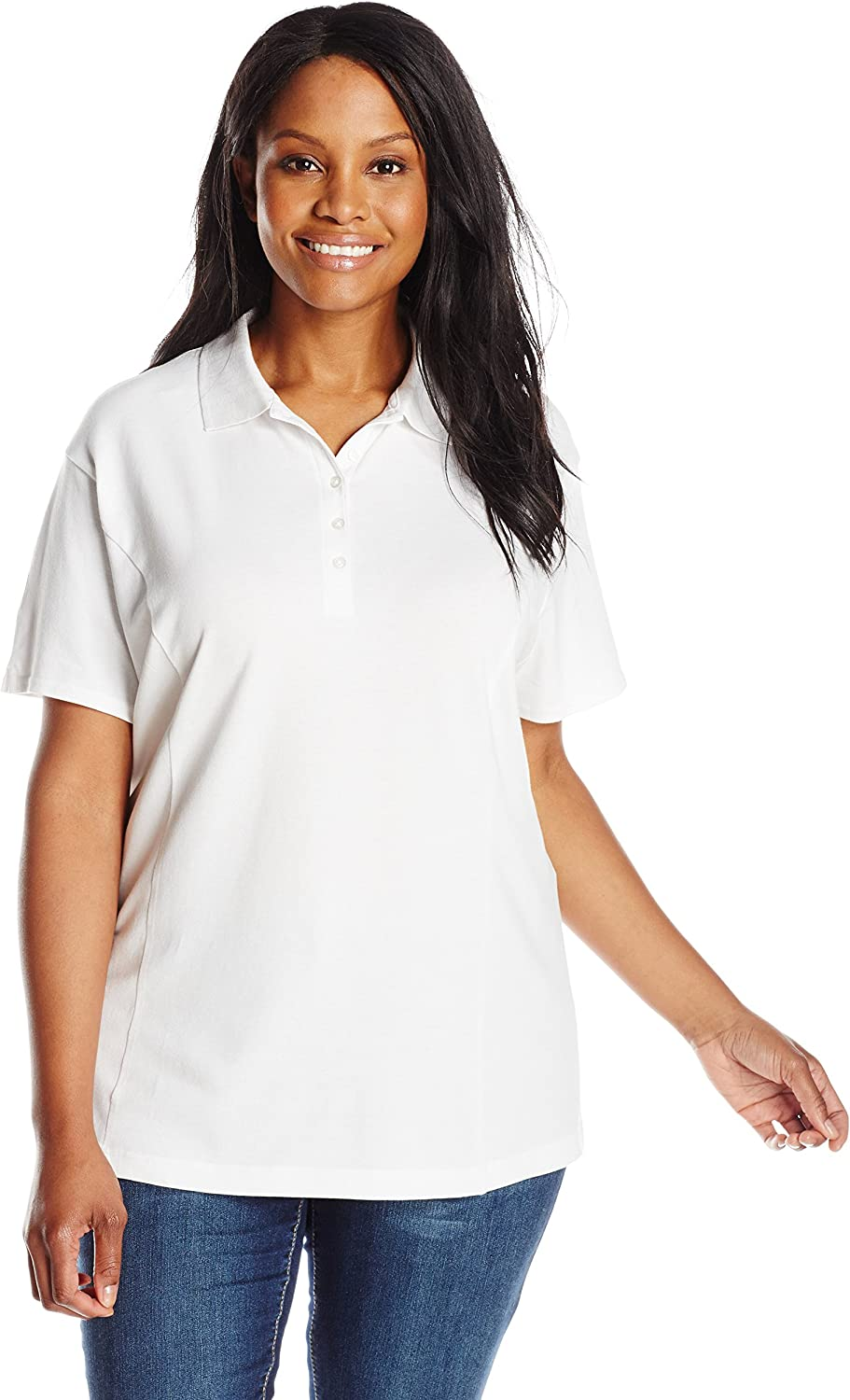 Riders by Lee Indigo Women's Plus Size Morgan Short Sleeve Polo Shirt