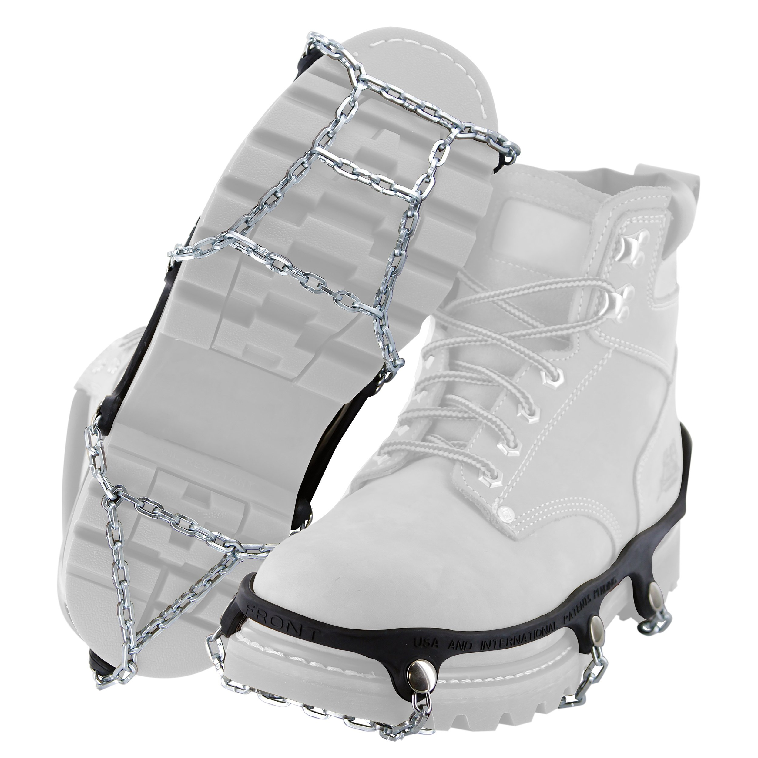 Yaktrax Traction Chains for Walking on Ice and Snow (1 Pair), Large by Yaktrax