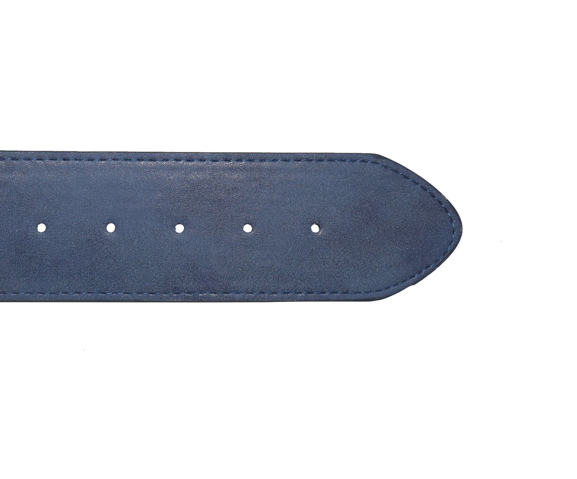 Modeway Women 2'' Wide Suede Leather Silver Square Buckle Adjustable Waist Belts (S-M, Navy-4#) by Modeway (Image #5)
