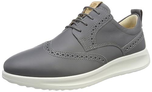 Ecco Vitrus Aquet, Zapatos de Cordones Brogue para Hombre, Gris (Titanium), 41 EU