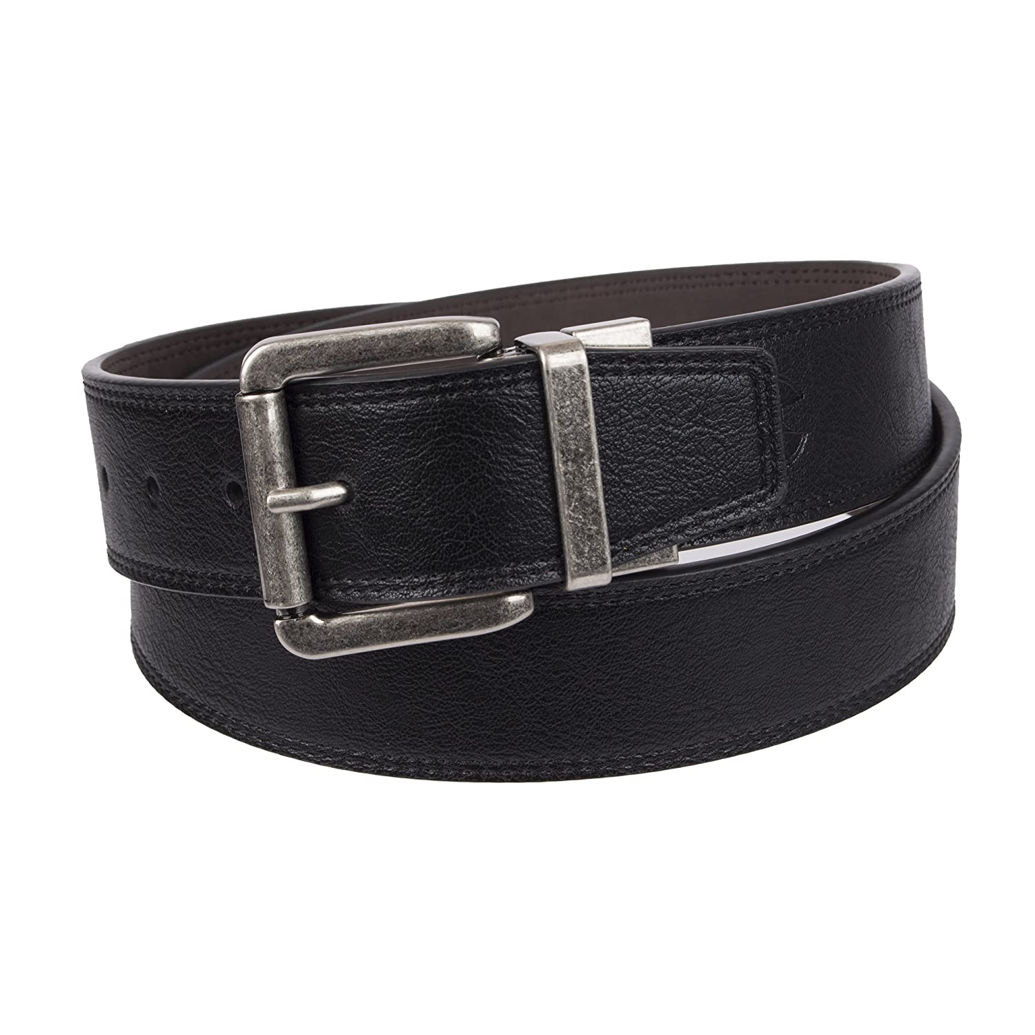 Weatherproof mens standard Casual Reversible Belt With Rotated Buckle