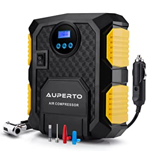 Digital Tyre Inflator,AUPERTO 12V Car Tyre Compressor Pump with Adapter to 150 PSI