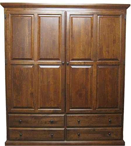 Forest Designs Traditional Wardrobe 72W x 72H x 21D 72w Red Oak