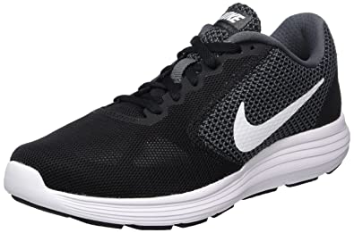 NIKE Women's Revolution 3 Running Shoe, Dark Grey/White/Black, 8 B