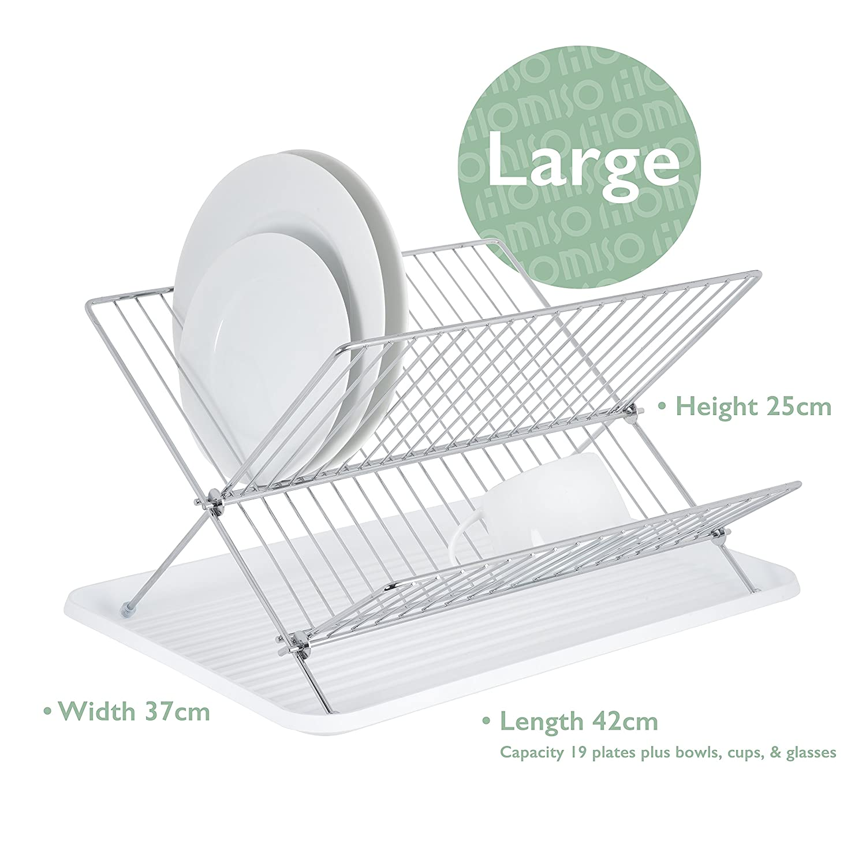 Camping-Küchenbedarf Klappbarer Camping Abtropffläche Faltbare 2-Tier Dish Plate Trocken Rack
