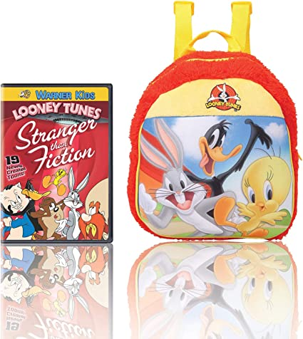 Warner Bros Looney Tunes Plush Bag (MBE-WB099) 100% Imported + Looney Tunes: Stranger Than Fiction (DVD)