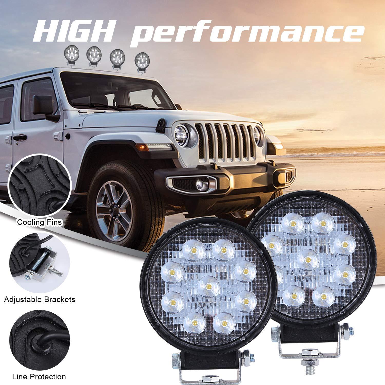 CICMOD 2/× Fari Lavoro LED 9-30V 160W 16000lm Faretti LED Auto IP67 Impermeabile per off-Road Truck Jeep Caravan SUV Quadrato