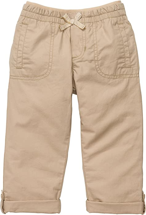 c135658845 Amazon.com: Carter's Girls Roll Tab Capri Pants (2T-6X) (Youth 4 ...