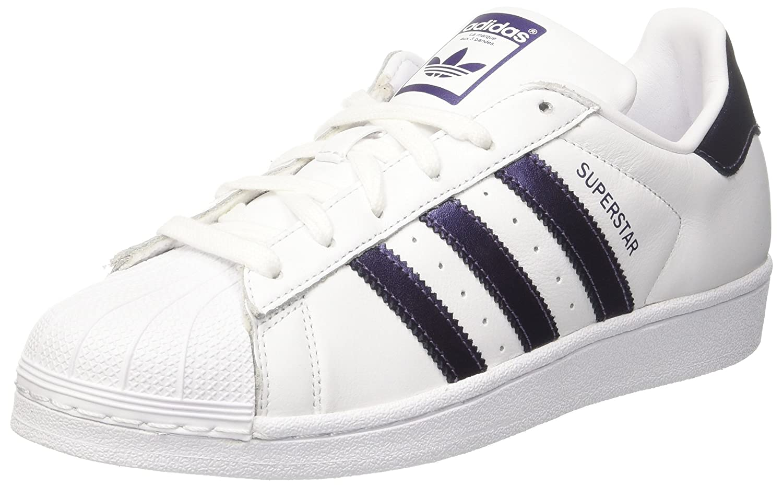 Adidas Superstar, Zapatillas para Mujer 40 EU|Blanco (Footwear White/Purple Night Metallic/Footwear White 0)
