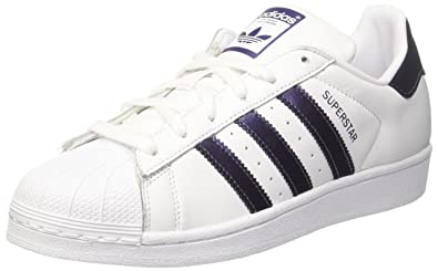 adidas Superstar, Baskets Femme, Blanc Purple Night Metallic/Footwear White 0, 39