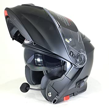 Amazon.es: NUEVO Casco Moto VCAN V271 Casco Bluetooth moto ...