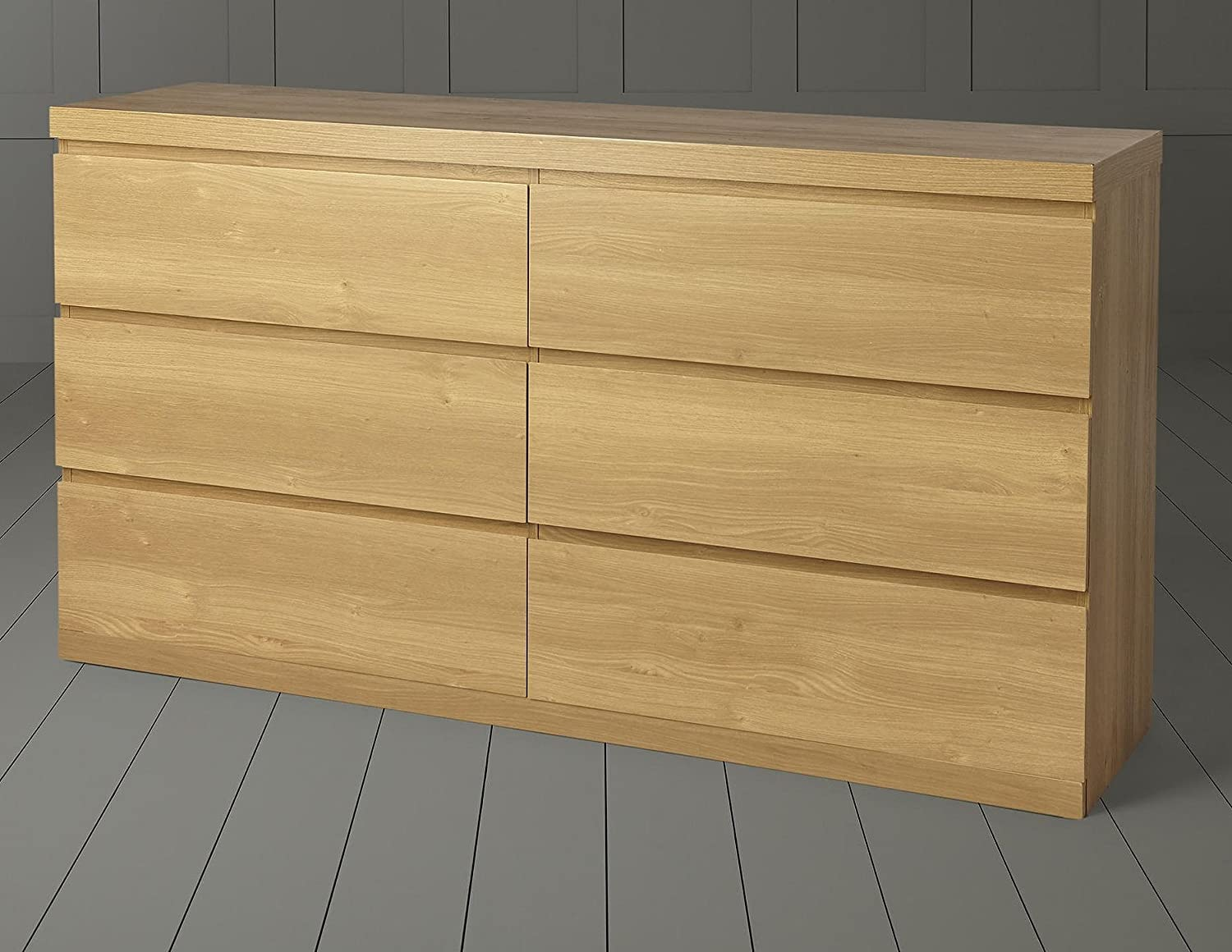 Tesco NEW Maine 2 x 3 Chest of 6 Drawers - Oak Effect