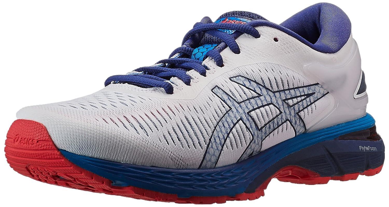 Asics Gel-Kayano 25, Zapatillas de Running para Hombre 49 EU|Blanco (White/Blue Print 100)