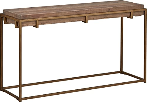 Amazon Brand Stone Beam Sparrow Industrial Entry Console Table, 55.1 W, Wood and Gold